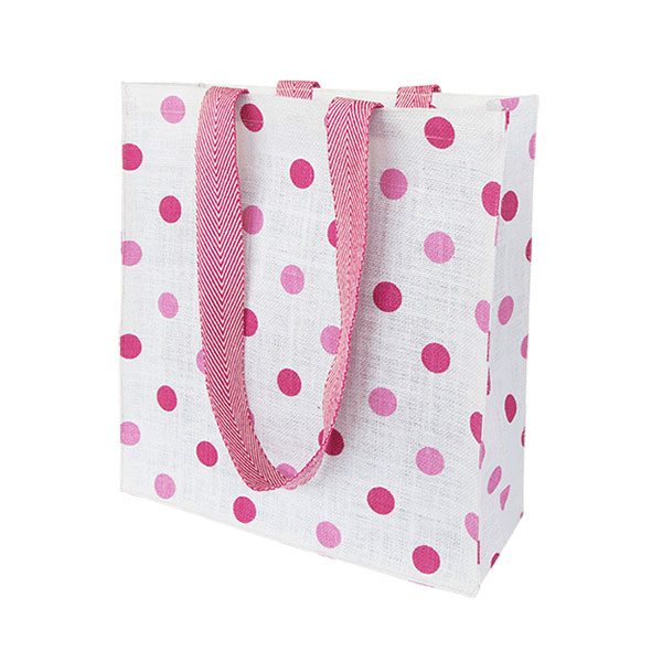 dotted jute bags